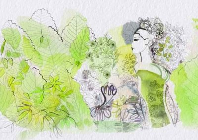 Cloros fillon-Rami Riturnella. Water color animation