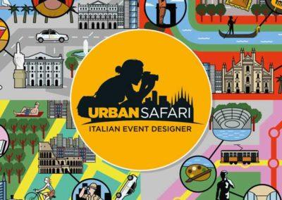 Urban Safari. Cartolina promozionale illustrata
