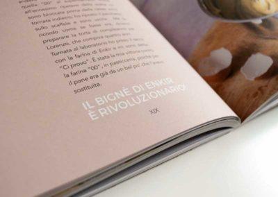 Antonella Scialdone: le sue ricette con la farina di Enkir. Grafica editoriale